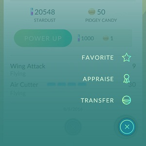 pokemon go appraisal feature