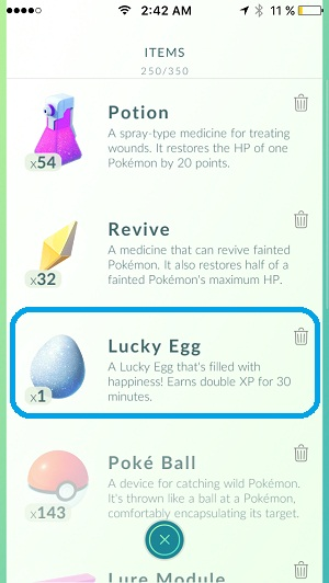 best moment to use the lucky egg feature in pokemon go