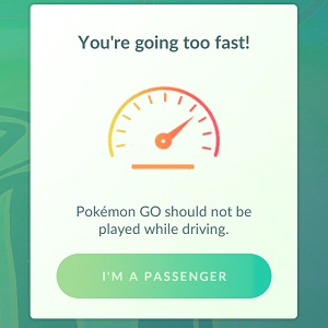 pokemon go speed limit warning