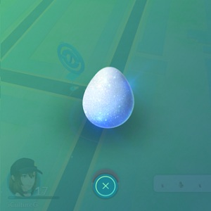 throwing lucky egg on pokemon go map