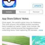 update pokemon go in app store