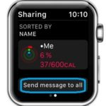 Apple Watch Activity Sharing Message option