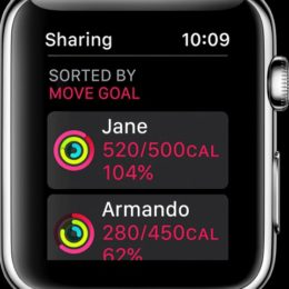 Apple Watch Activity Sharing screen