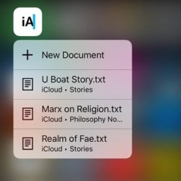 iOS 10 3D Touch Spotlight Search result