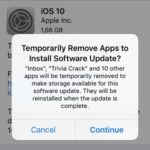 iOS Temporarily Deletes Apps To Free Up Space To Install Software Update