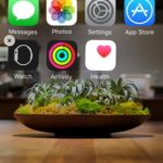 iphone home screen with deleted native apps