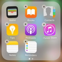 stock iphone apps can be deleted in iOS 10