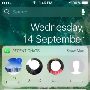 WhatsApp iOS 10 Widget