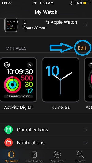 Swipe Left Or Right To Change The Apple Watch Face In
