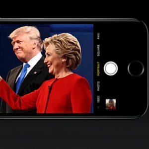 Clinton vs Trump debate live on iPhone