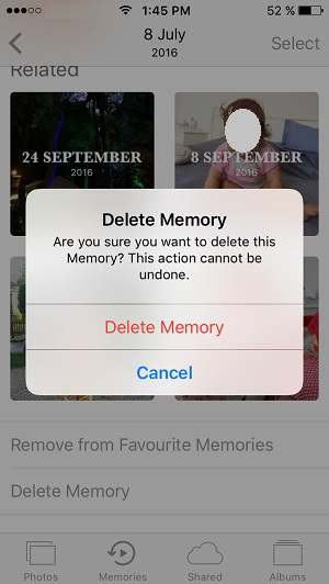 how to delete a memory