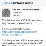 ios 10.1 beta 2 software update