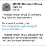 ios 10.1 beta 4 release note