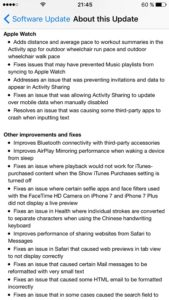 ios 10.1 change log