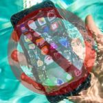 iPhone 7 submerged in water