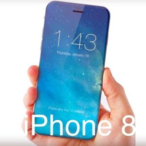 iPhone 8 all-glass design rendering