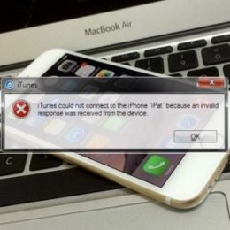 iPhone to Mac iTunes connection error