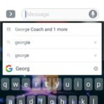 searching contacts via gboard