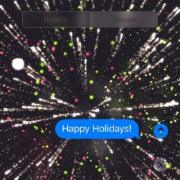 Send iMessage with Fireworks Screen Effect.