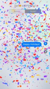 send message with confetti effect