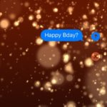 Celebration full-screen iMessage effect