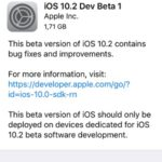 ios 10.2 dev beta 1 software update