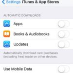 iphone automatic app download settings