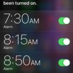 using Siri to turn On all iPhone alarms