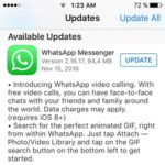 whatsapp messenger video call update