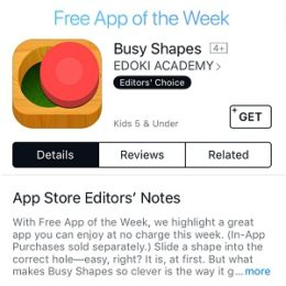 busy shapes free app of the week
