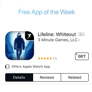 lifeline whiteout free app of the week