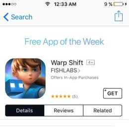 Warp Shift - Free app of the Week