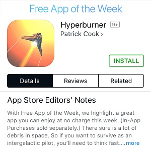 hyperburner free app of the week
