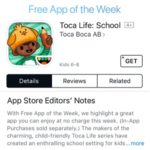 Toca Life: School Is The Free App Of The Week 15 ($2.99 Value)