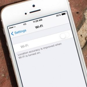 greyed out iPhone wi-fi toggle