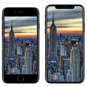 iPhone 8 vs iPhone 7 2D comparison