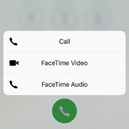 iphone dial button 3d touch options