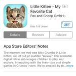 little kitten app store download page