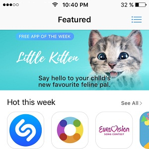 little kitten free app of the week