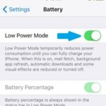 turning off iphone low power mode