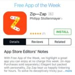 zip zap free app of the week