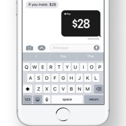 Apple Pay Cash payment via iMessage