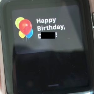 apple watch happy birthday feature