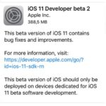 Apple Seeds iOS 11 Developer Beta 2 For iPhone And iPad