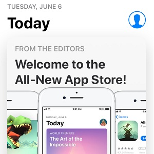 iOS 11 new App Store home screen.