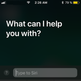 ios 11 type to siri feature