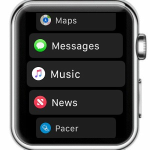 watchos 4 app bundle list view