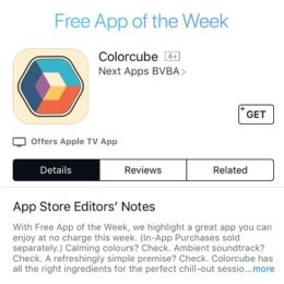 colorcube free app of the week