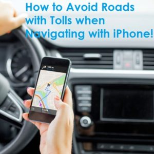 driving while navigating with iphone