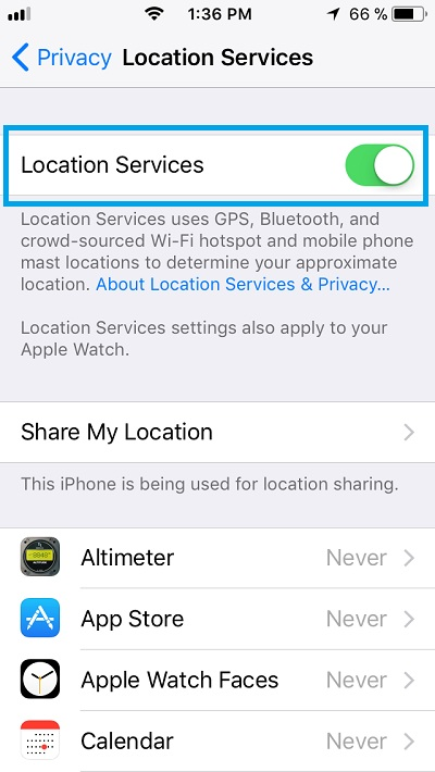 iphone location settings how to quickly find your exact gps coordinates using your 7015